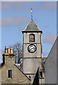 NT5014 : The clock tower and belfry at St Mary's Kirk, Hawick by Walter Baxter