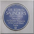 Photo of Edwin Saunders blue plaque