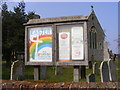 TG2701 : All Saints Church Notice Board by Adrian Cable