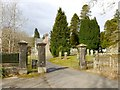 NS2489 : Faslane Cemetery: entrance by Lairich Rig