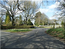 SJ8369 : Lane junction at Hodgehill by Colin Pyle