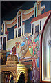 TQ3189 : St John the Baptist, Wightman Road - Wall painting : Week 16