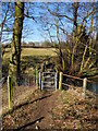 SJ9284 : Footbridge, Poynton Brook by John Topping