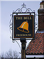 TG1309 : The Bell Public House sign by Adrian Cable