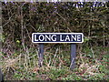TG1509 : Long Lane sign by Adrian Cable