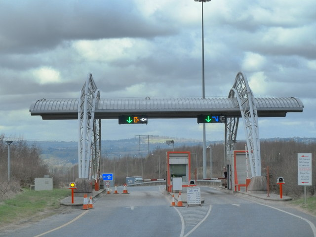M1 Toll booths at Drogheda