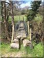 SW9346 : Rudimentary footbridge across the River Fal by Rod Allday