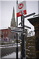 SE0924 : Signpost near Halifax railway station by Phil Champion