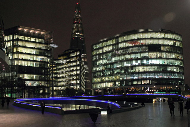 The More London Complex at night