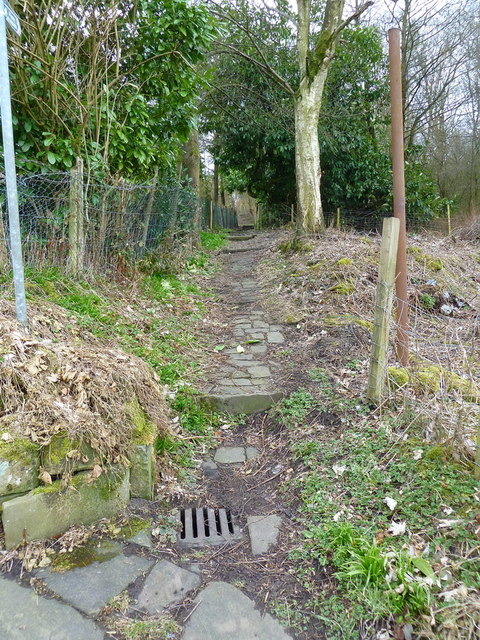 Path from Green Road to Hagg Street, Colne