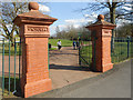 SJ5186 : Victoria Park Gateposts, Birchfield Road by David Dixon