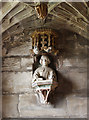 SJ7907 : St Bartholomew's church, Tong - memorial bust of Sir Arthur Vernon by Mike Searle