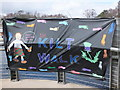 NS3981 : KiltWalk banner at Balloch by Barbara Carr