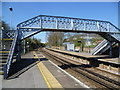 TQ7158 : Footbridge at Aylesford station by Ian Yarham