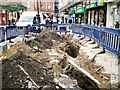 SJ8990 : Hole in the ground on Warren Street by Gerald England