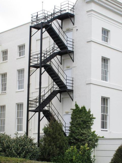 Fire Escape Staircase, The Queenu0027s Hotel