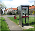TG3807 : Telephone box by High Road/Chapel Road junction, Beighton by Evelyn Simak