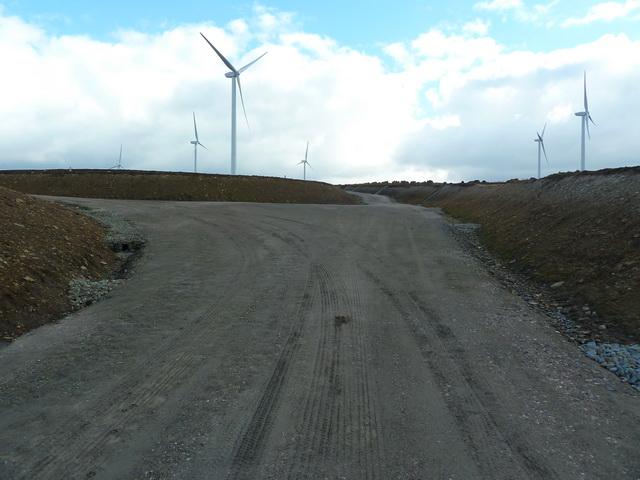 Service road on Oswaldtwistle Moor Wind Farm