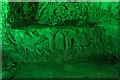 TQ4369 : Carvings, Chislehurst Caves, Kent by Christine Matthews