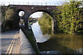 SO8555 : Railway bridge over the Worcester and Birmingham Canal by Philip Halling