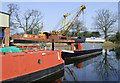 SJ8710 : Boatyard north-west of Brewood, Staffordshire by Roger  Kidd