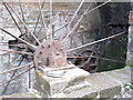 NS5320 : Water mill wheel at Dumfries House sawmill by M J Richardson