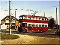 SU6672 : Trolleybus at Tilehurst terminus by Richard Green