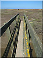 TF9744 : Footbridge in Stiffkey saltmarsh by Evelyn Simak