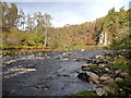 NH9545 : River Findhorn at Ardclach by Andy Waddington