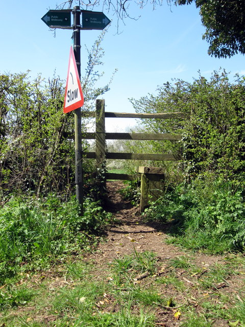 Slow footpath to Lillingstone Lovell