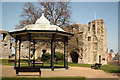SK7954 : Newark Castle bandstand by Richard Croft