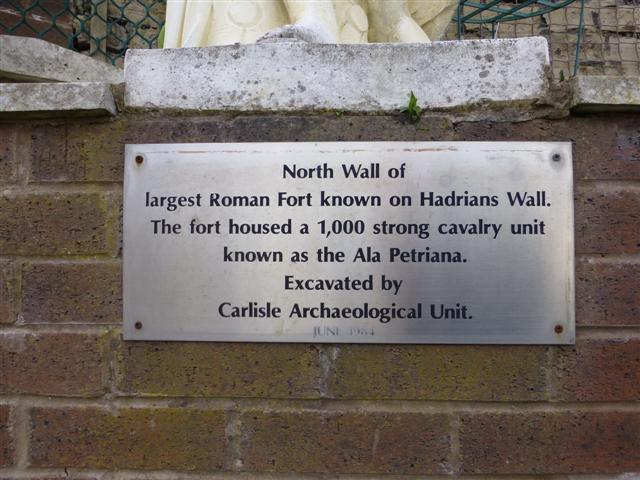 Plaque, Hadrian's Wall, Carlisle