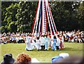 TL1445 : Maypole dancing, Ickwell Green, Bedfordshire by nick macneill