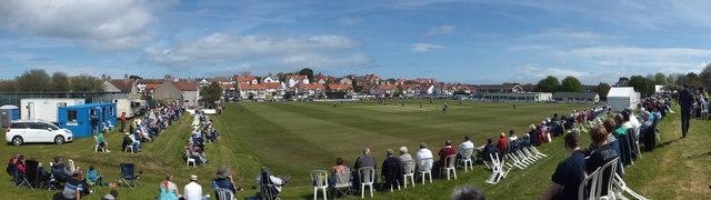 Colwyn Bay Cricket Club Map Panorama at Colwyn Bay Cricket