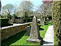 ST8661 : Grave markers, St Katharine's Church, Holt, Wiltshire by Brian Robert Marshall