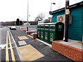 ST1597 : Recycling area at the edge of Pengam railway station by John Grayson