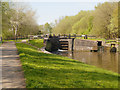 SD5704 : Leeds and Liverpool Canal, Poolstock Lower Lock by David Dixon