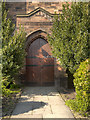SD5603 : Doorway, St Paul's Church by David Dixon