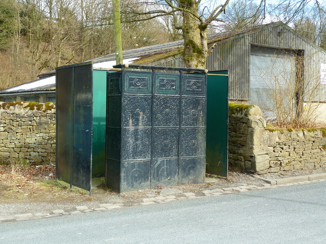 Victorian cast iron gents toilet, Skipton Road, Trawden
