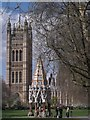 TQ3079 : Buxton Memorial Fountain and Victoria Tower, Victoria Tower Gardens SW1 by R Sones