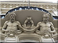 TQ3181 : Atlantes above the entrance to Lloyds Bank, Law Courts Branch, 222 The Strand, WC2 by Mike Quinn