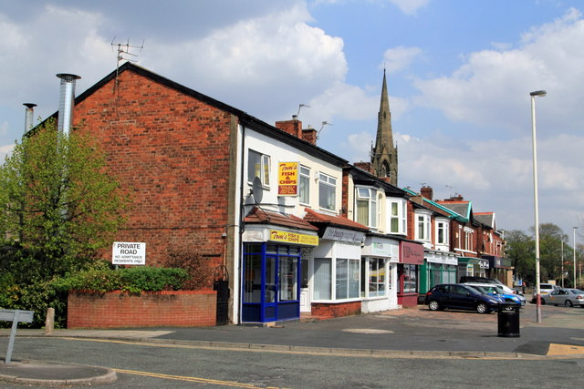 Row of shops on Manchester Road