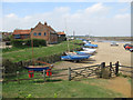TF8444 : Boats hauled up at Burnham Overy Staithe by Pauline Eccles