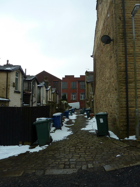 Back street between Co-operative Street and Park Street, Helmshore