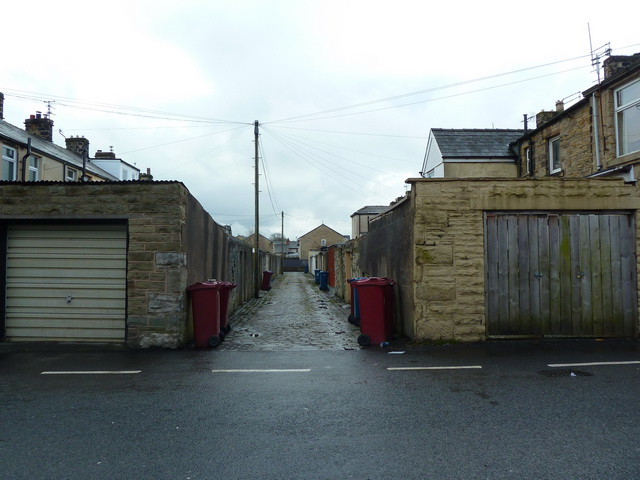 Back street off Waterloo Road, Clitheroe