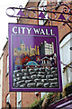 TQ7468 : City Wall sign by Oast House Archive