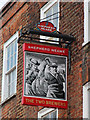 TQ7468 : The Two Brewers sign by Oast House Archive