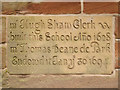 SJ8476 : Schoolhouse Plaque by David Dixon