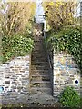 SX3884 : Steps to footpath by Hugh Craddock