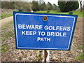 ST7169 : A sign at Lansdown Golf Club by Ian S
